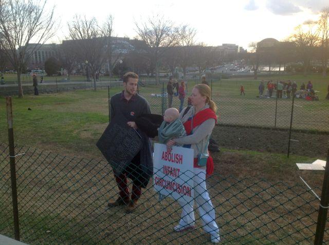 הפגנה מול גבעת הקפיטול נגד מילת תינוקות