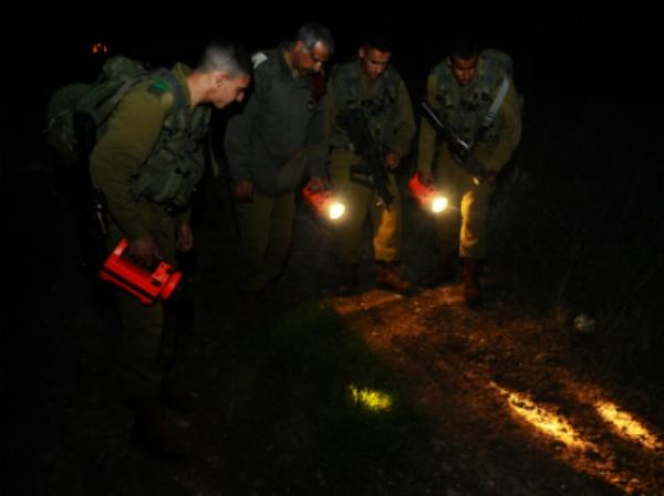 """יחידת הגששים בפעולה (צילום: דובר צה""""ל)"""