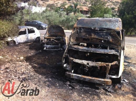 אלימות נגד ערבים: הצתת כלי רכב, חילול קברים וכתובות גזעניות