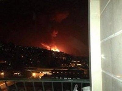 התקיפה בסוריה על פי צילום של הסוכנות הלבנונית אל מנאר