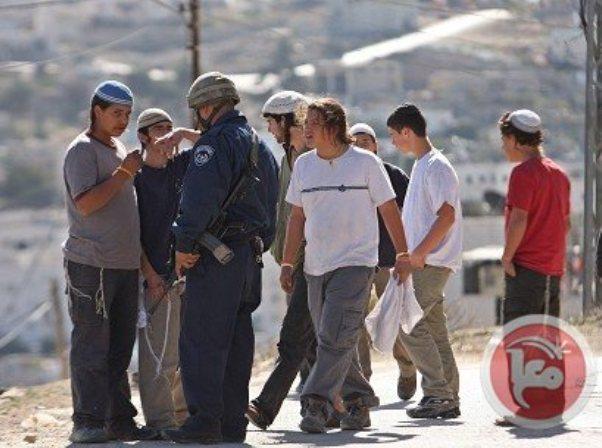 העימות בין מתנחלים לכוחות הביטחון (צילום: סוכנות מען)