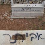 """קברי פלסטינים שחוללו אתמול  בא-סאווייה (צילום סלמא א-דבעי, """"בצלם"""")"""