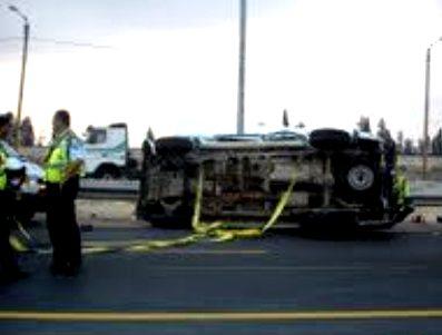 הרוג ושלושה פצועים בתאונת משאיות בצומת להבים
