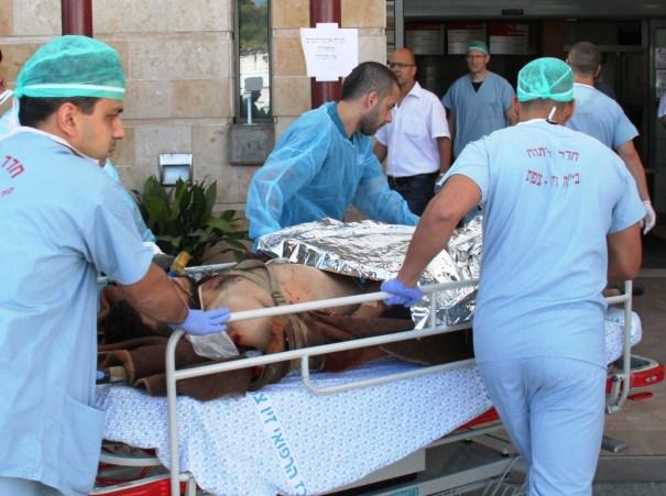 פצוע סורי הובהל לחדר טראומה כשרימון רסס נמצא על גופו
