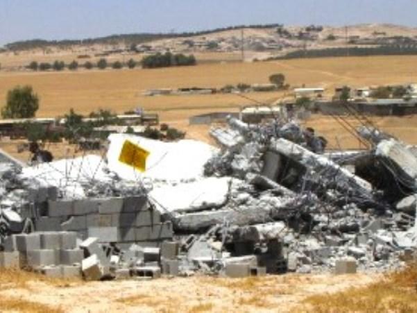 הפינוי ביישוב חורה (צילום: דוברות מנהל מקרקעי ישראל)