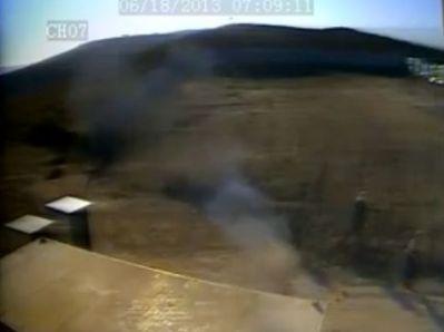 הצתת המחסן (צילום מתוך הסרטון)