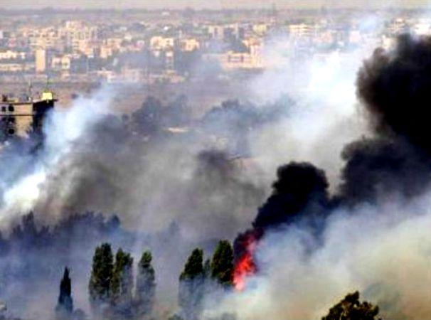 שטח הקרבות באזור קוניטרה (צילום: אל ג'זירה)