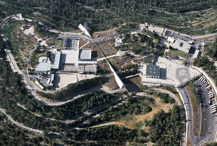 מוזיאון יד ושם - תצלום אוויר (מאתר האינטרנט של יד ושם)