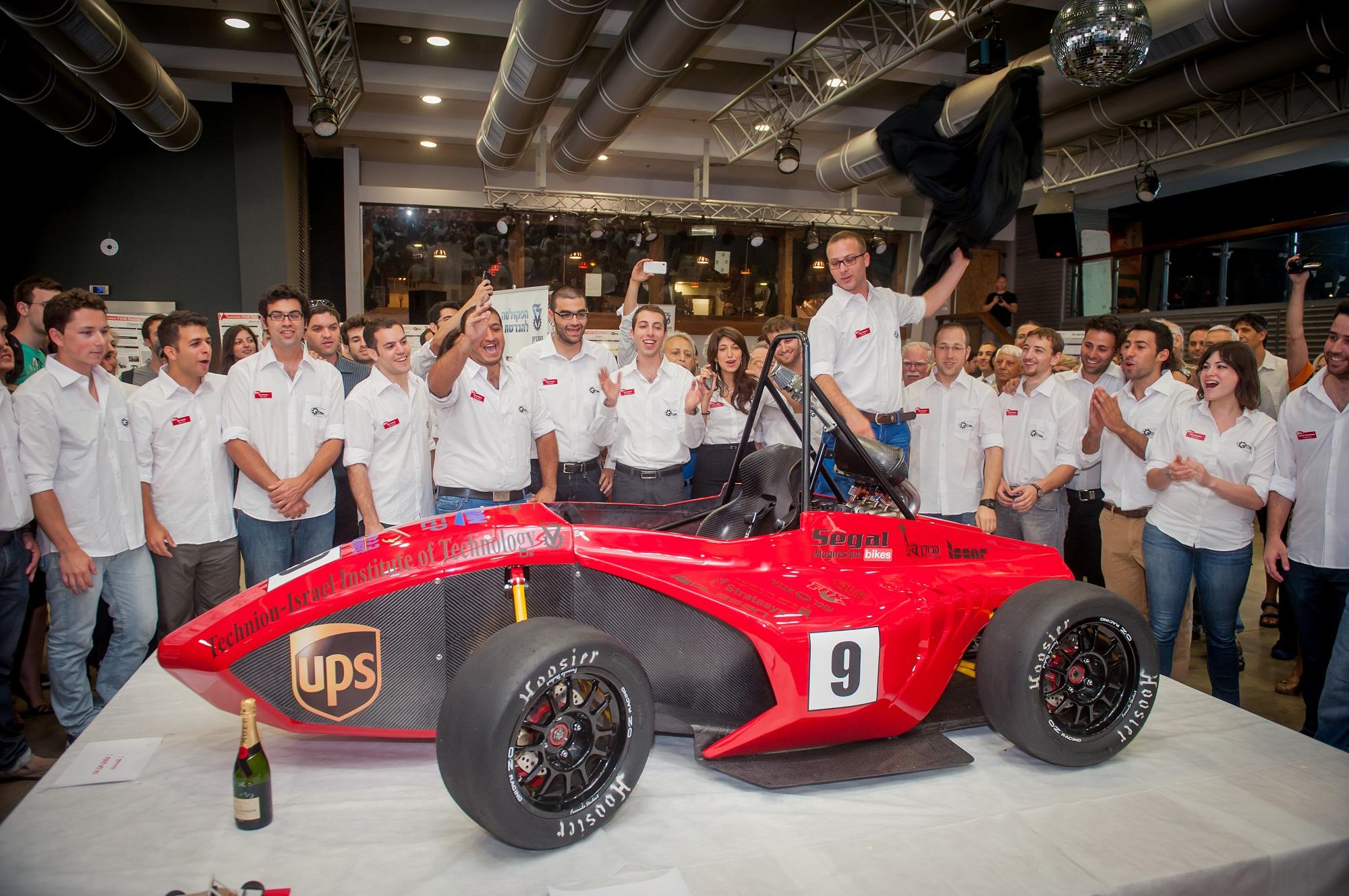 נחשף רכב המרוץ של הטכניון לפורמולה SAE באיטליה