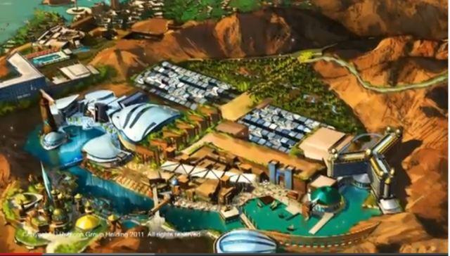 תמונה כללית של אתר הנופש ופארק השעשועים שייבנה בעקבה. ישדרג את עקבה ואת ירדן כאחת. (צילום: רוביקון גרופ הולדינג)
