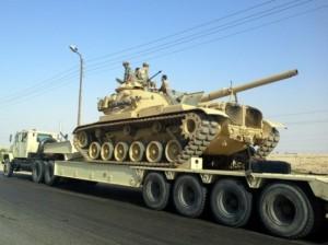הצבא המצרי מתגבר כוחות בסיני (צילום: סוכנות אנאדולו)