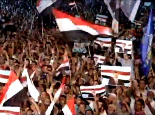 המפגינים בכיכר תחריר