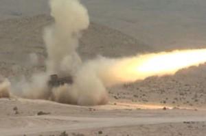 """שיגור טיל תמוז באימונים (צילום: דו""""צ)"""