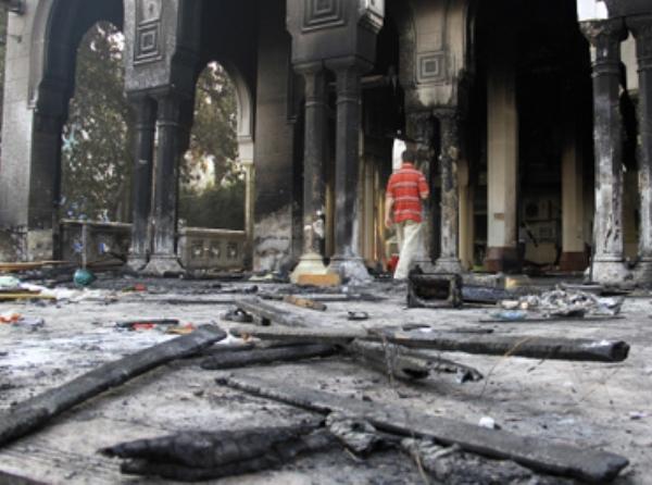 חורבות מסגד רבעאה אל-דאחייה בשכונת נאסר בקהיר