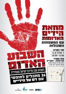 """הכרזה של """"מחאת הידיים האדומות"""""""