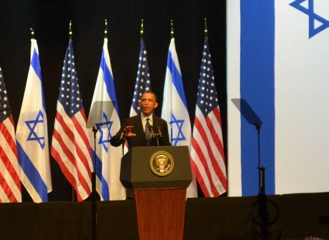 ברק אובמה בישראל (צילמה: טלי קורל)