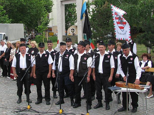 """""""המשמר ההונגרי"""", מיליציה ימנית הרואה עצמה ממשיכה של צלב החץ (צילום: ויקימדיה)"""