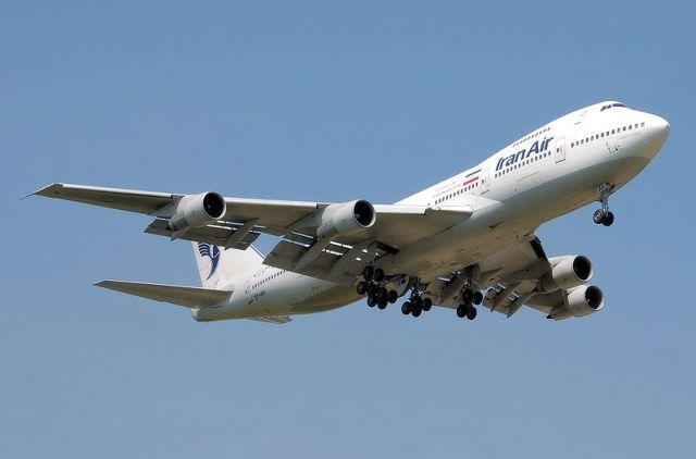 בואינג 747-200 של איראן אייר. מפעלה צי של 52 מטוסים הטסים ל-52 יעדים. צילום:ויקיפדיה