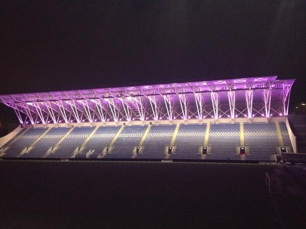 """האצטדיון המואר (צילום: יח""""צ)"""