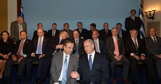 """מפגש ממשלות ישראל ויוון. שורת הסכמים לשיתוף פעולה (צילום: עמוס בן גרשום/לע""""מ)"""