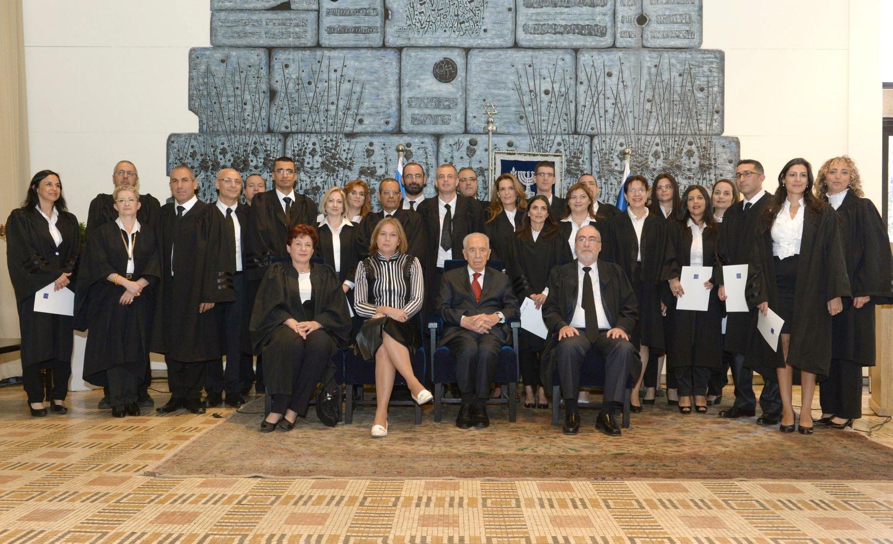 הנשיא השביע 21 שופטים חדשים לכהונה