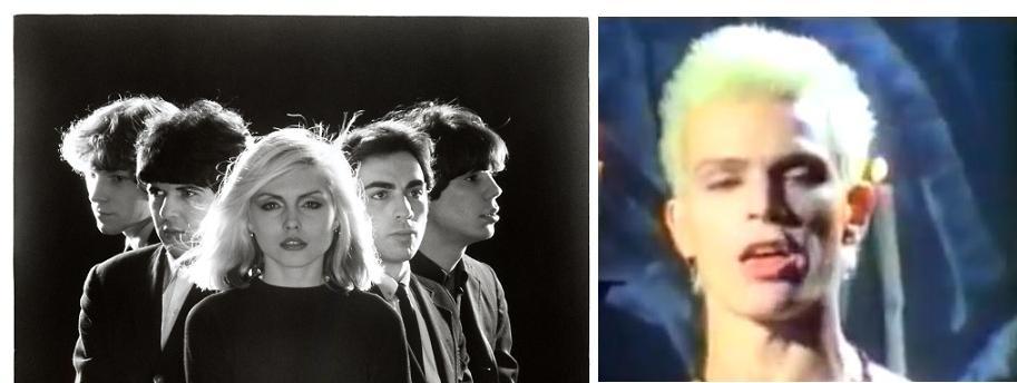 האמריקניזציה של הפאנק: מימין- בילי איידול; משמאל- חברי להקת בלונדי (וויקימדיה)