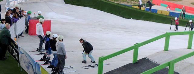 """אתר """"סקי בגלבוע"""". לפי התביעה, לא בוצעה בפועל שום הפרדה בין מסלול הגלישה המיועד למתחילים לבין זה המיועד למתקדמים. (צילום מהאתר)"""