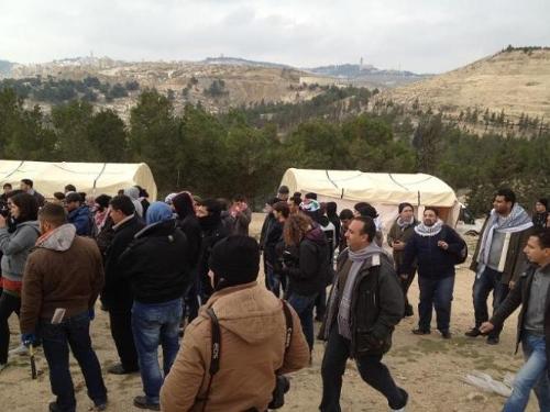 מאחז פלסטיני שנהרס על שטח E1 שבמחלוקת (צילום: PNN)