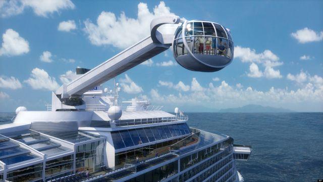 הדמיה של קפסולת הזכוכית שתעלה את נוסעים הקוונטום אוף זה סיז לגובה של יותר ממאה מטרים מעל פני הים