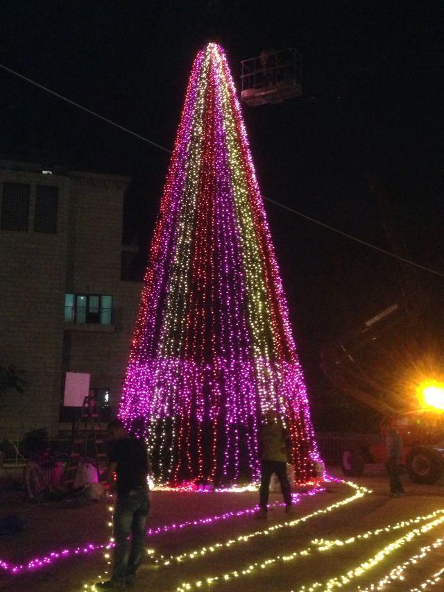 עץ חג המולד ביפו . (צילום: באדיבות דוברות עיריית תל אביב יפו)