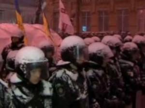 משטרת אוקראינה מול המפגינים