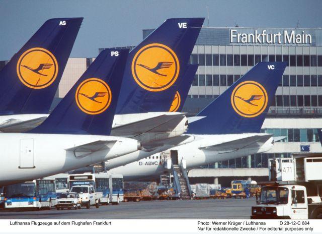 מטוסים בנמל פרנקפורט. מגבירים תדירויות לישראל תוך ניצול מושכל של טיסות המשך. צילום: לופטהנזה