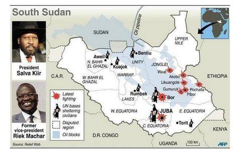 מלחמת האזרחים מתפשטת לאזור דרום סודאן העשיר בנפט