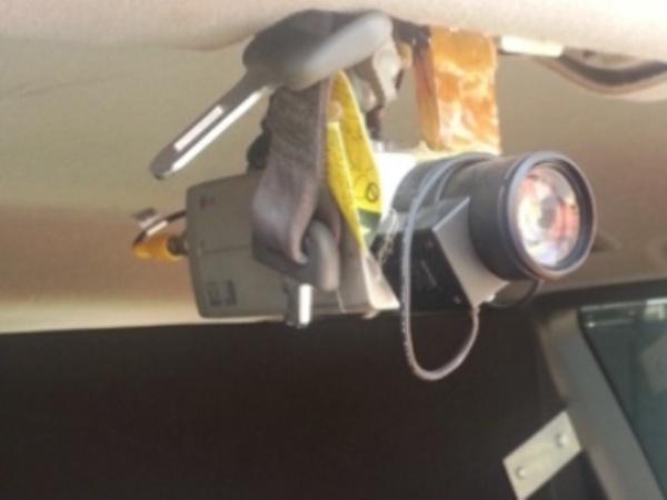 מצלמות המותקנות ברכב  (צילום: משטרת ישראל)