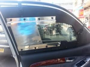 שמשות ממוגנות (צילומים: משטרת ישראל)