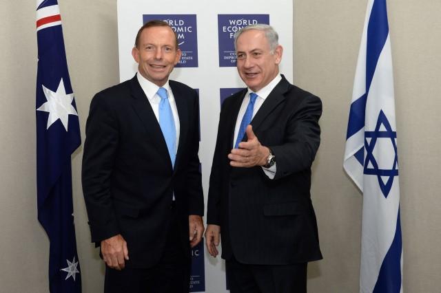 """פגישת נתניהו עם ראש ממשלת אוסטרליה, טוני אבוט (צילום: קובי גדעון/לע""""מ)"""