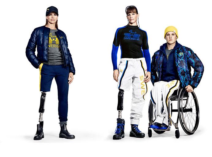 הנבחרת הפאראולימפית השבדית בקולקציית H&M. צילום: H&M