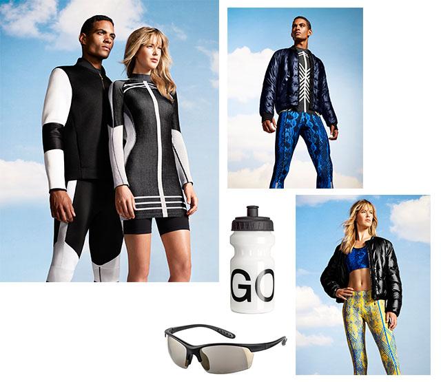 """קולקציית """"Go Gold"""" לספורטאים ולספורטאיות. צילומים: H&M"""