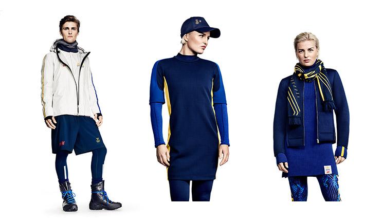 הנבחרת השבדית בקולקציית H&M. צילום: H&M