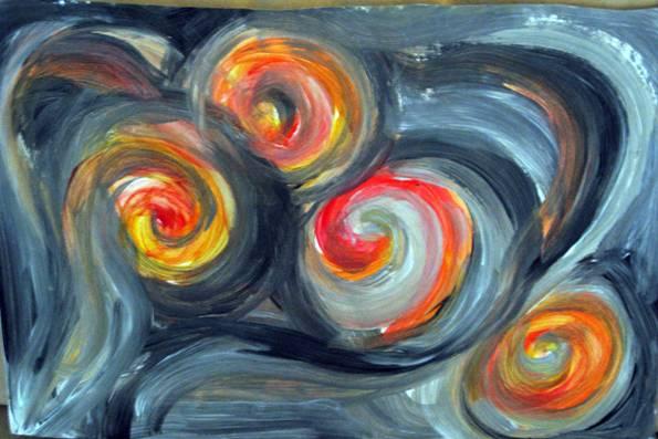 """אחד הציורים המוצגים בתערוכה (צילום: יח""""צ)"""