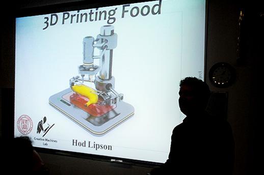 מכונת הדפסה דמיונית. צילום ממצגת של פרופ' הוד ליפסון