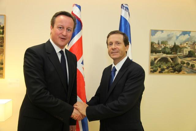 פגישת ראש ממשלת בריטניה עם ראש האופוזיציה, יצחק הרצוג (צילום: דוברות הכנסת)
