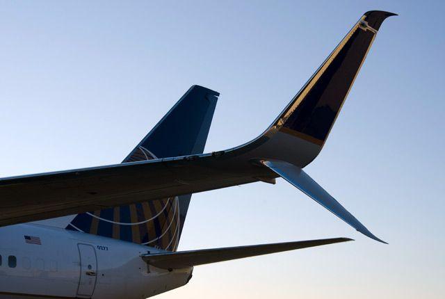 כנפוני קצה כנף מפוצלים שהותקנו המטוס יונ ייטד - יוצרים חיסכון של 2% בדלק