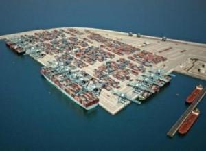 הדמיה של נמל המפרץ (צילום: חברת נמלי ישראל)