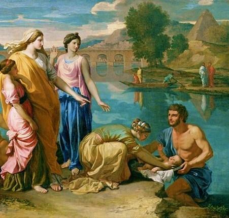 משה נמשה מן היאור (ניקולה פוסאן, 1638)