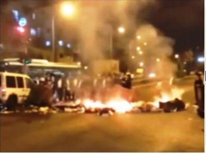 הפגנות חרדים בירושלים ובני ברק - תשעה עצורים