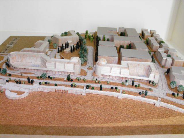 הדמיית מתחם הרכס. בין עתודות הקרקע המשמעותיות האחרונות בירושלים לבניית בתי מלון. (צילום הדמיה: משרד התיירות)