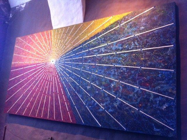 קוסקו כמרכז עולם האינקה. מוטיב תרבותי חוזר. צייר מיגל אראוס. קוריקאנצ׳ה. (צילום: ענת מנדל)