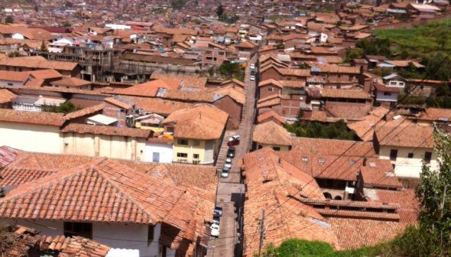 קוסקו, בירת האינקה במבט מלמעלה. (צילום: ענת מנדל)