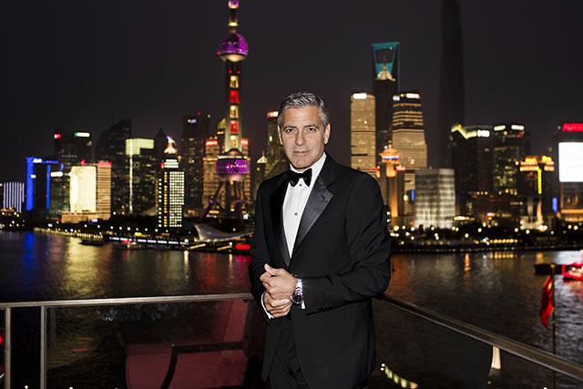 ג'ורג' קלוני בשנגחאי. צילום: OMEGA SA